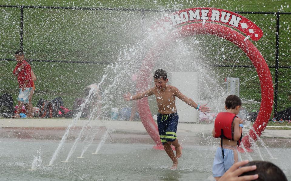 Baseball Field Splash Pad at 7th Inning Splash Waterpark